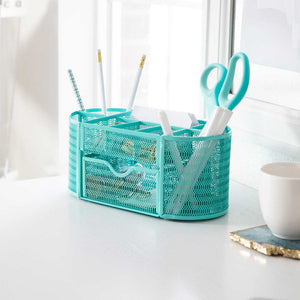 Monte Aqua Desk Organizer with Drawer