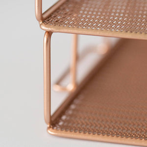 Monte Stackable Rose Gold Paper Tray - Set of 2 - Letter Size