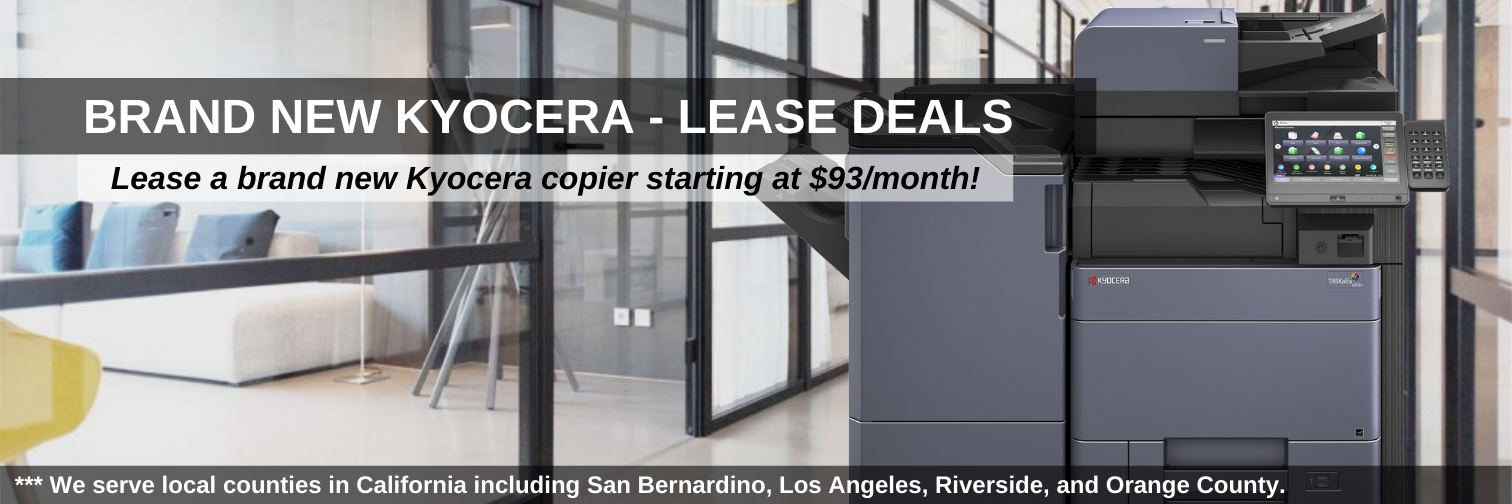 Lease Brand New Kyocera Copiers