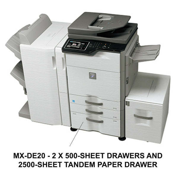 Sharp MX-DE20 2 Paper Drawers and Tandem Drawers
