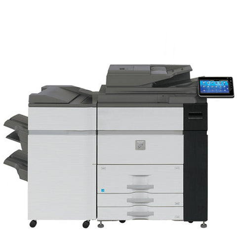 Sharp MX-M1054 Mono Production Printer w/ FN-21 Stapling Finisher - Refurbished | ABD Office Solutions