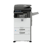 Sharp MX-M565N A3 Mono MFP w/ DE13 Paper Drawers & 36ABD Rolling Cabinet - Brand New | ABD Office Solutions
