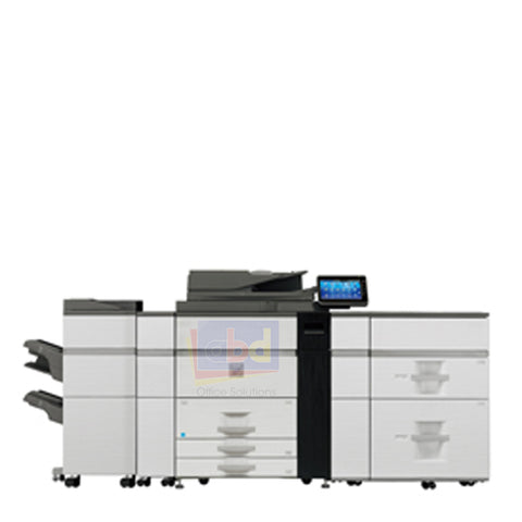 Sharp MX-M1054 Mono Production Printer w/ FN-21 Finisher and LC13 AirFeed Tray - Refurbished