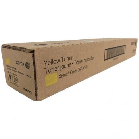 Genuine Xerox 6R1658 Yellow Toner Cartridge for Xerox Color C60/C70 (006R01658) | ABD Office Solutions