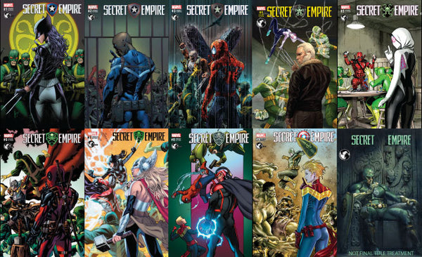 SECRET EMPIRE UNKNOWN COMIC BOOKS EXCLUSIVE 10 PACK BUNDLE