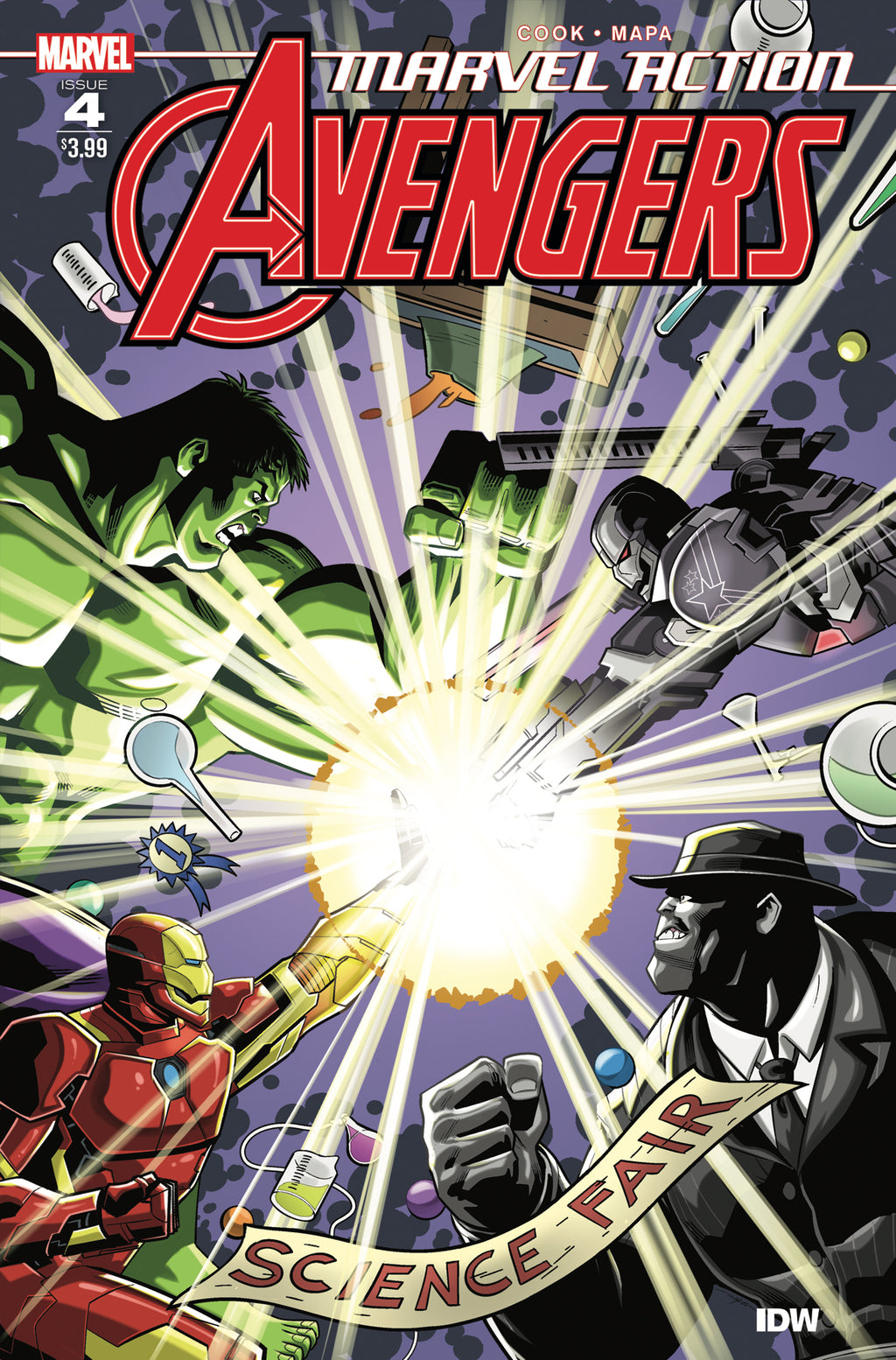 #2 COVER A MAPA VF//NM 2020 IDW PUBLISHING HOHC 2020 MARVEL ACTION AVENGERS