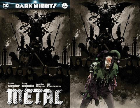 DARK NIGHTS METAL #1 (OF 6) EXCLUSIVE TIM BRADSTREET 2 PACK 8/16/2017