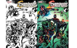 Champions 1 Variant Venom Unknown Comics Exclusive Color & B&W Set Perkins