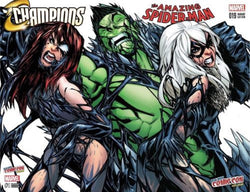 AMAZING SPIDERMAN 19 CHAMPIONS 1 COMICXPOSURE RAMOS COLOR VARIANT SET MARY JANE