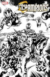 Champions 1 Unknown Comics Exclusive Perkins Venom B&W Variant