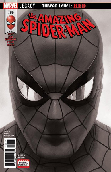 AMAZING SPIDER-MAN #796 ALEX ROSS B & W 3RD PTG VAR 4/18/2018