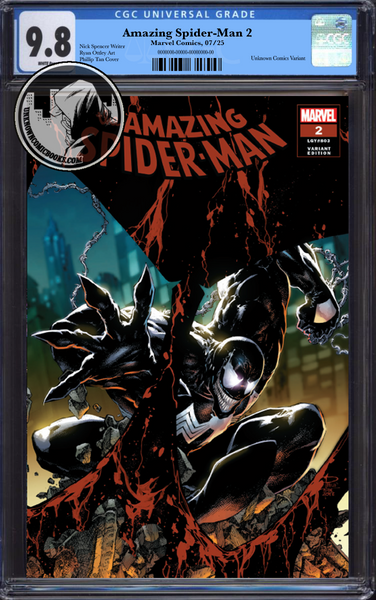 AMAZING SPIDER-MAN #2 UNKNOWN COMIC BOOKS PHILLIP TAN VAR CGC 9.8 BLUE LABEL 10/30/2018