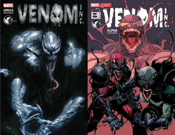 AMAZING SPIDER-MAN VENOM INC ALPHA & OMEGA UNKNOWN COMIC BOOK 2 PACK