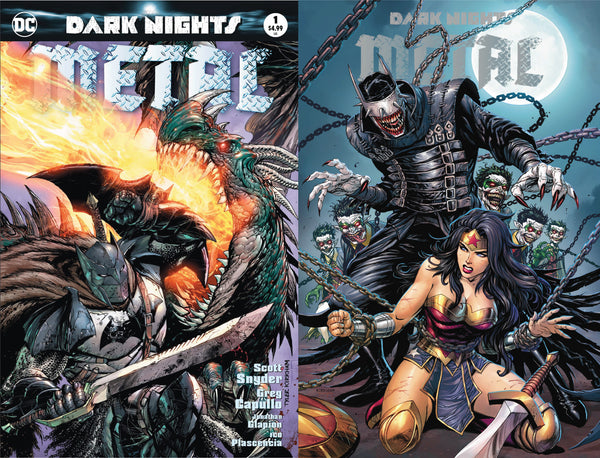 DARK NIGHTS METAL 2 PACK #1 & #6 CVR A TYLER KIRKHAM UNKNOWN COMIC BOOKS EXCLUSIVE 3/28/2018
