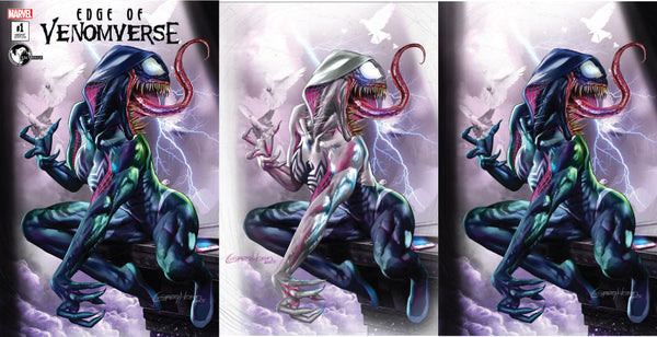 EDGE OF VENOMVERSE #1 UNKNOWN COMIC BOOKS EXCLUSIVE 3 PACK GREG HORN 6/28/2017