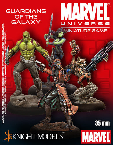 Guardians Of The Galaxy Set Marvel Miniature 35mm