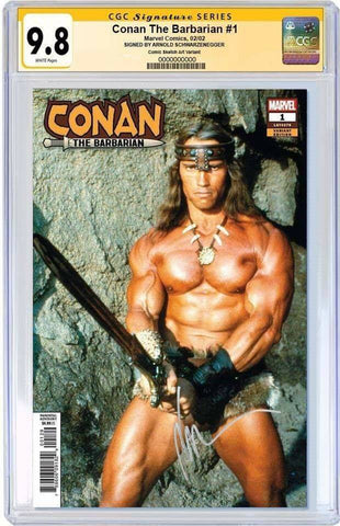 CONAN THE BARBARIAN #1 ARNOLD SCHWARZENEGGER MOVIE VAR CGC 9.8 SS YELLOW LABEL 5/30/2019