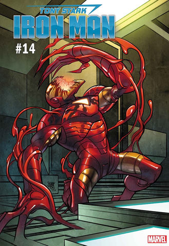 TONY STARK IRON MAN #14 FERRY CARNAGE-IZED VAR (07/24/2019)