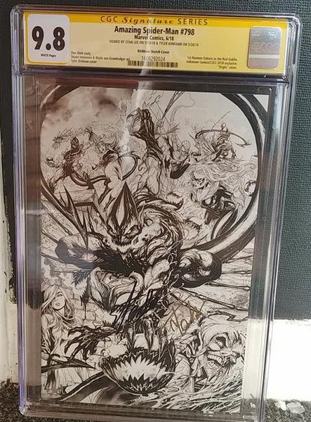 AMAZING SPIDER-MAN #798 UCB STAN LEE KIRKHAM CONVENTION CGC 9.8 SS YELLOW LABEL 7/11/2018