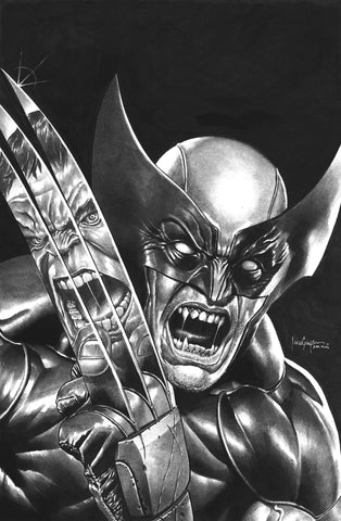 WOLVERINE #1 UNKNOWN COMICS MICO SUAYAN EXCLUSIVE B&W VIRGIN VAR DX (03/04/2020)