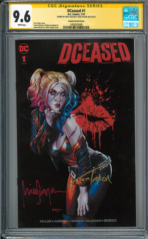DCEASED #1 (OF 6) UNKNOWN COMICS SUAYAN/TAYLOR CGC 9.6 SS YELLOW LABEL DOUBLE (08/07/2019)