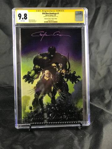 OLD MAN HAWKEYE #1 (OF 12) UNKNOWN COMIC BOOKS EXCLUSIVE CRAIN VIRGIN CGC 9.8 SS YELLOW LABEL 5/1/2018