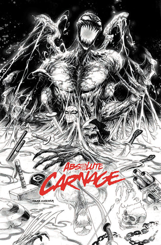 ABSOLUTE CARNAGE #1 (OF 4) TYLER KIRKHAM EXCLUSIVE B&W (08/28/2019)
