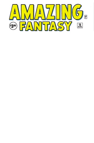 AMAZING FANTASY #15 FACSIMILE EDITION BLANK EXCLUSIVE ANNA ZHUO SKETCH (01/30/2020)
