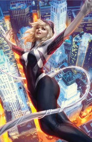 SPIDER-GWEN GHOST SPIDER #1 UNKNOWN COMIC BOOKS ARTGERM VIRGIN VAR 10/24/2018