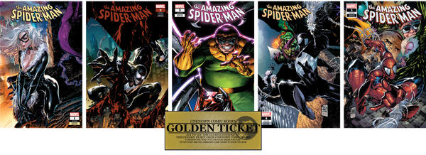 AMAZING SPIDER-MAN #1 #2 #3 #4 & #5 UNKNOWN COMIC BOOKS TAN 5 PACK CVR A 9/12/2018