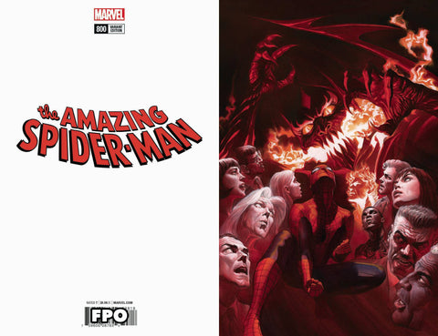 AMAZING SPIDER-MAN #800 ALEX ROSS VIRGIN VAR LEG 1:500 5/30/2018