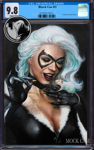 BLACK CAT #2 UNKNOWN COMICS MIKE CHOI EXCLUSIVE VIRGIN CGC 9.8 BLUE LABEL (09/30/2019)