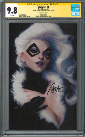 BLACK CAT #1 ARTGERM VIRGIN VAR 1:200 CGC 9.8 SS YELLOW LABEL ARTGERM (06/05/2019)