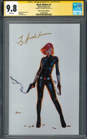 BLACK WIDOW #1 UNKNOWN COMIC BOOKS EXCLUSIVE ANACLETO MODERN CGC 9.8 SS YELLOW LABEL 5/30/2010