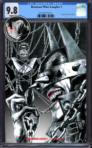 BATMAN WHO LAUGHS #1 (OF 6) UNKNOWN COMIC BOOKS EXCLUSIVE SUAYAN CVR B CGC 9.8 BLUE LABEL 3/30/2019