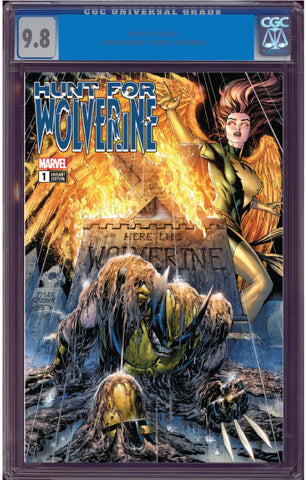 HUNT FOR WOLVERINE #1 UNKNOWN COMIC BOOKS 9.8 CGC BLUE LABEL KIRKHAM EXCLUSIVE 6/1/2018