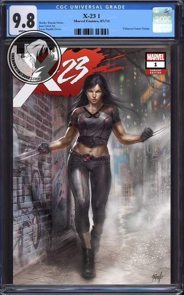 X-23 #1 UNKNOWN COMIC BOOKS EXCLUSIVE PARRILLO CGC 9.8 BLUE LABEL 10/30/2018
