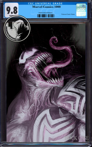 MARVEL COMICS #1000 UNKNOWN COMICS DELLOTTO EXCLUSIVE VIRGIN CGC 9.8 BLUE LABEL (12/30/2019)