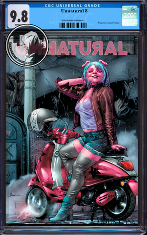 UNNATURAL #8 (OF 12) UNKNOWN COMIC BOOKS JAY ANACLETO EXCLUSIVE CGC 9.8 BLUE LABEL 6/30/2019