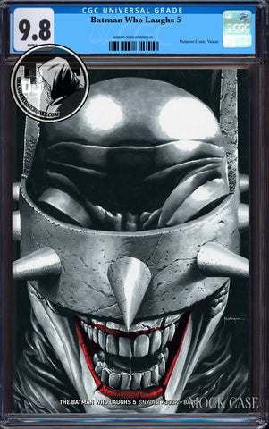 BATMAN WHO LAUGHS #5 (OF 6) UNKNOWN COMIC BOOKS SUAYAN EXCLUSIVE REMARK EDITION CGC 9.8 BLUE LABEL 7/30/2019