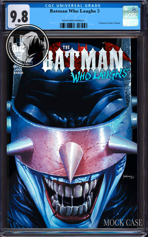 BATMAN WHO LAUGHS #5 (OF 6) UNKNOWN COMIC BOOKS SUAYAN EXCLUSIVE CGC 9.8 BLUE LABEL 7/30/2019