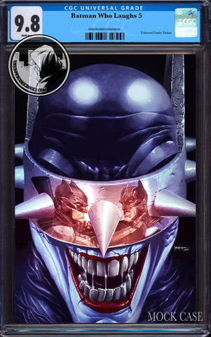 BATMAN WHO LAUGHS #5 (OF 6) UNKNOWN COMIC BOOKS SUAYAN EXCLUSIVE VIRGIN REFLECTION CGC 9.8 BLUE LABEL 7/30/2019