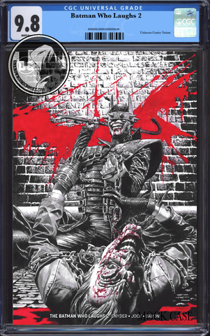BATMAN WHO LAUGHS #2 (OF 6) UNKNOWN COMIC BOOKS SUAYAN EXCLUSIVE REMARK EDITION CGC 9.8 BLUE LABEL 5/30/2019