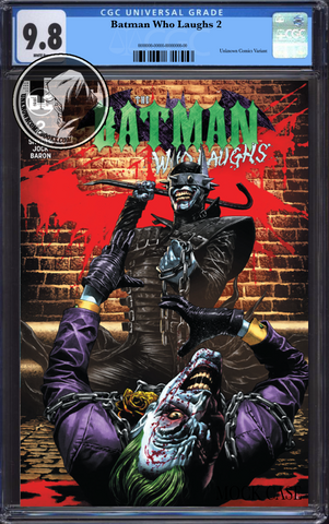 BATMAN WHO LAUGHS #2 (OF 6) UNKNOWN COMIC BOOKS SUAYAN EXCLUSIVE CGC 9.8 BLUE LABEL 5/30/2019
