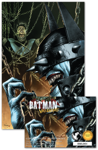 BATMAN WHO LAUGHS #1 (OF 6) UNKNOWN COMIC BOOKS EXCLUSIVE SUAYAN UNMASKED CONVENTION EXCLUSIVE SIGNED W/ COA 2/13/2019