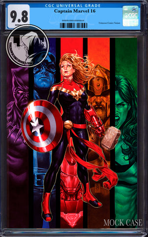 CAPTAIN MARVEL #16 UNKNOWN COMICS EXCLUSIVE VIRGIN VAR CGC 9.8 BLUE LABEL (07/29/2020)