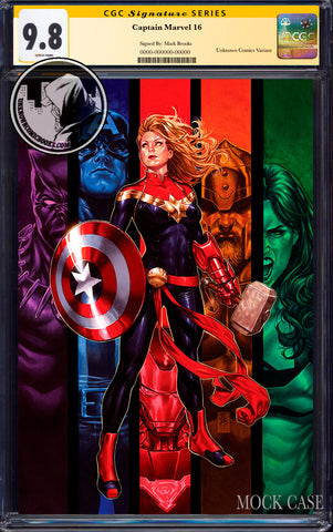 CAPTAIN MARVEL #16 UNKNOWN COMICS EXCLUSIVE VIRGIN VAR CGC 9.8 SS YELLOW LABEL (12/02/2020)