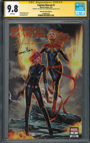 CAPTAIN MARVEL #1 UNKNOWN COMIC BOOKS EXCLUSIVE ANACLETO CVR A CGC 9.8 SS YELLOW LABEL 5/30/2019