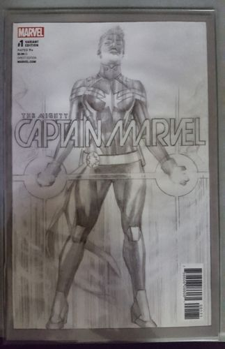 The Mighty Captain Marvel #1 One Per Store Alex Ross Sketch Variant