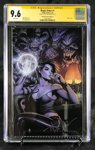 MAGIC ORDER #1 (OF 6) UNKNOWN COMIC BOOKS KIRKHAM (MR) VIRGIN CGC 9.6 SS YELLOW LABEL 9/1/2018